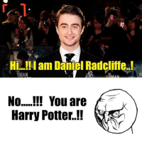 Potter, Daniel, and Gman: H am Daniel Radcliffe  gMAN  No You are  Harry Potter