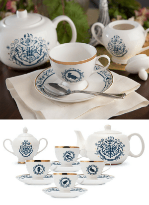 novelty-gift-ideas:  Harry Potter Blue and Gold New Bone China Tea Set: H  CAL- novelty-gift-ideas:  Harry Potter Blue and Gold New Bone China Tea Set