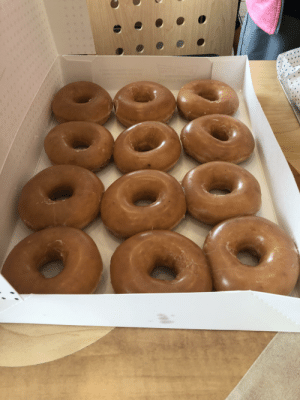 Donuts, Got, and Day: H I got you all donuts for national donut day