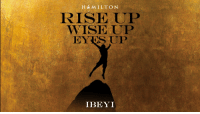 Friday, Memes, and 🤖: H MILTON  RISE UP  WISE UP  EYIS UP  IBEYI YOUR FRIDAY AUGUST #HAMILDROP  DROPS AT MIDNIGHT, WHEREVER YOU ARE. Presenting @IbeyiOfficial with their new #Hamiltune... Rise Up Wise Up Eyes Up https://t.co/Cd4tWwn4fl