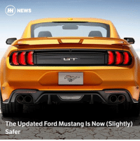 Memes, News, and Euro: H NE  HH) NEWS  The Updated Ford Mustang ls Now (Slightly)  Safer Via @carthrottlenews - After a pretty awful showing in the Euro NCAP safety tests earlier this year, Ford's urgent updates to the Mustang have rewarded buyers with an extra star on its rating