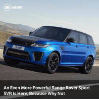 Via @carthrottlenews - The latest version of JLR's 5.0-litre supercharged V8 has found its way into the Range Rover Sport SVR as part of a series of updates to the line-up: H) NEWS  7I UYP  An Even More Powerful Range Rover Sport  SVR Is Here, Because Why Not Via @carthrottlenews - The latest version of JLR's 5.0-litre supercharged V8 has found its way into the Range Rover Sport SVR as part of a series of updates to the line-up