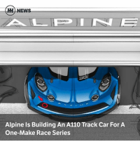Memes, News, and Race: H) NEWS  Alpine Is Building An A110 Track Car For A  One-Make Race Series Via @carthrottlenews - Alpine has confirmed with a teaser picture that the company is fettling the A110 for track use, with a stripped-out interior, downforce and light drivetrain modifications