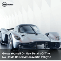 Cars, Martin, and Memes: H) NEWS  Gorge Yourself On New Details Of The  No-Holds-Barred Aston Martin Valkyrie Via @carthrottlenews - With no rules to play by other than physics itself, the Aston Martin Valkyrie is one of the most exciting cars to emerge, well, ever. Here are the latest photos and a few juicy appetisers ahead of the main course later this year