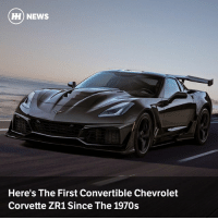 Via @carthrottlenews - Chevrolet has taken the wraps off a new Corvette ZR1 with a folding electric roof, 755bhp LT5 supercharged V8 and all of the noise...: H) NEWS  Here's The First Convertible Chevrolet  Corvette ZR1 Since The 1970s Via @carthrottlenews - Chevrolet has taken the wraps off a new Corvette ZR1 with a folding electric roof, 755bhp LT5 supercharged V8 and all of the noise...