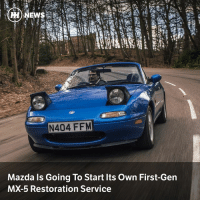 Via @carthrottlenews - Have an NA MX-5 that needs some love? Mazda is launching its own restoration service, but only in Japan: H) NEWS  N404 FFM  Mazda Is Going To Start Its Own First-Gen  MX-5 Restoration Service Via @carthrottlenews - Have an NA MX-5 that needs some love? Mazda is launching its own restoration service, but only in Japan
