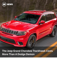 Via @carthrottlenews - Want Jeep's Hellcat-engined SUV monster on your driveway? You'll need to pay nearly $86,000 for the privilege: H) NEWS  The Jeep Grand Cherokee Trackhawk Costs  More Than A Dodge Demon Via @carthrottlenews - Want Jeep's Hellcat-engined SUV monster on your driveway? You'll need to pay nearly $86,000 for the privilege