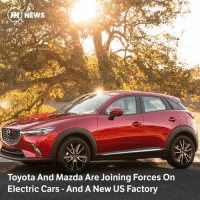 Via @carthrottlenews - Toyota is about to confirm a deal with Mazda to co-finance a new factory in the USA, as well as developing platform-sharing electric cars for the next decade: H) NEWS  Toyota And Mazda Are Joining Forces On  Electric Cars And A New US Factory Via @carthrottlenews - Toyota is about to confirm a deal with Mazda to co-finance a new factory in the USA, as well as developing platform-sharing electric cars for the next decade