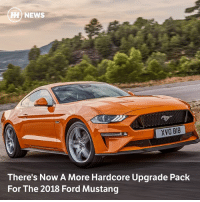 Memes, News, and The Gap: H) NEWS  XVO 818  There's Now A More Hardcore Upgrade Pack  For The 2018 Ford Mustang Via @carthrottlenews - With buyers calling for something to bridge the gap between the full-fat GT350 model and the regular Mustang, Ford has released a Performance Pack Level 2 that should tick people's boxes nicely