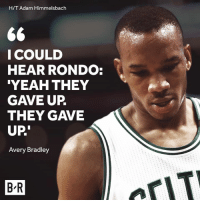 """Yeah, Boston, and Avery Bradley: H/T Adam Himmelsbach  66  I COULD  HEAR RONDO:  """"YEAH THEY  GAVE UP  THEY GAVE  UP  Avery Bradley  BR  aryT Panic mode in Boston?"""