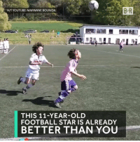 Football, youtube.com, and Star: H/T YOUTUBE: MARWANE BOUNIDA  THIS 11-YEAR-OLD  FOOTBALL STAR IS ALREADY  BETTER THAN YOU He's 11 👀 https://t.co/i6gMhhpYwj