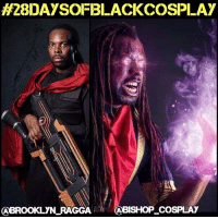 Memes, 🤖, and Xmen: H28DAYSOFBLACKCOSSPLAY  CABROOKLYN RAGGA  ABISHOP COSPLAY My seventh 28daysofblackcosplay spotlight is a double-feature for the Bishop or two worlds: @brooklyn_ragga and @bishop_cosplay! 🙌🏾 These two NAILED the cinematic and comicbook versions of this classic Xmen character! Be sure to check out their pages and give them both a follow! -- Also be sure to follow @cosplayofcolor for daily cosplay photography that emphasizes diversity and representation. 👌🏾