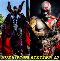 Memes, 🤖, and Spawn: H2BDAYSOEBLACKCOSPLAY My first 28daysofblackcosplay feature goes to the uber-talented @knightmage1! 🙌🏾 From Spawn to Kratos - this guy nails his character every time! Be sure to follow him for more. 💯 -- Photos courtesy of @cosplayofcolor - be sure to follow them for daily cosplay photography that emphasizes diversity and representation. 👌🏾