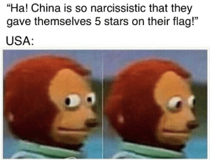 "Vietnam has self-confidence issues: ""Ha! China is so narcissistic that they  gave themselves 5 stars on their flag!""  USA: Vietnam has self-confidence issues"