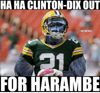 It's a movement.: HA HA CLINTON DIX OUT  ONFLIMEMEZ  FOR HARAMBE It's a movement.