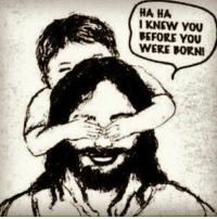 """HA HA  I KNEW YOU  BEFORE YOU  WERE BORN! """"Before I formed you in your mother's womb, I knew YOU..."""" -Jeremiah 1:5"""
