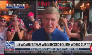 Fifa, News, and Sports: ha  LYON, FRANCE  6:54 PM  Sports  FOX US WOMEN'S TEAM WINS RECORD FOURTH WORLD CUP TITLE  NEWS  FIFA WOMEN'S WORLD CUP FRANCE 2019  KOREA CLAIMS AUSTRALIAN STUDENT IT DETAINED FOR A WEEK HAD SPREAD ANTI-PYONGYANG PRO  12:54 ET maxofs2d: