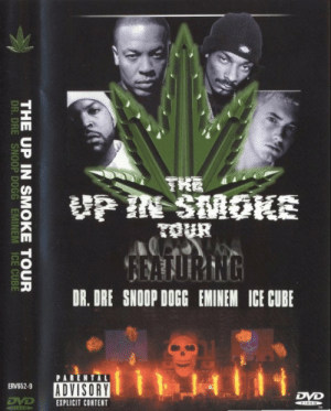Dr. Dre, Eminem, and Ice Cube: HA  THE UP IN SMOKE TOUR  DR.DRE SNOOP DOGG EMINEM ICE CUBE Currently watching
