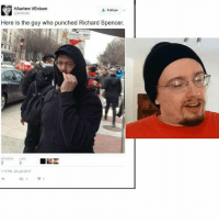 Memes, 🤖, and Hyde: HAarlem VEnison  & Follow  @dtaknats  Here is the guy who punched Richard Spencer.  111 PM 20 Jan 2017 SAM HYDE AT IT AGAIN!!!!!!!!!!!!!!!! Pc: @revo.lutixnus