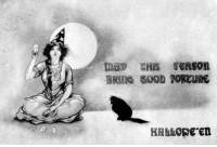 Halloween, Target, and Tumblr: HAB ORE en gravesandghouls: Halloween postcard c. 1910s
