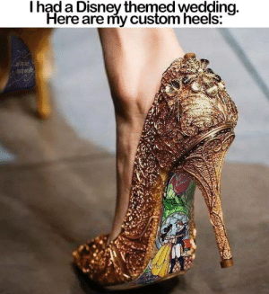 Disney, Memes, and Http: had a Disney themed wedding  Here are my custom heels. WANT! 😍 Available Here: http://tidd.ly/5699ef2e