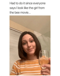 she really does i via: @gianna_victoria_: Had to do it since everyone  says I look like the girl from  the bee movie. she really does i via: @gianna_victoria_