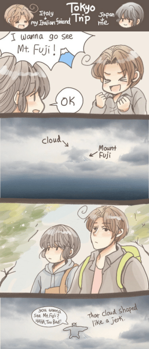 haeko9page:  We only saw the top of the mountain alittle bit.God damn clouds 実録漫画憎っくき雲☁️: haeko9page:  We only saw the top of the mountain alittle bit.God damn clouds 実録漫画憎っくき雲☁️