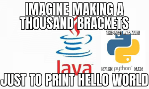 haha java bad python good: haha java bad python good