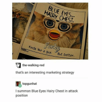 """Lmao, Shit, and Blue: HAIRY CHEST.  inda like a  guy But better.  the-walking-red  that's an interesting marketing strategy  topgunhat  l summon Blue Eyes Hairy Chest in attack  position the mummy was a real shit movie lmao the characters were stupid as shit """"oo lemme shoot this in a tomb n see what happens"""" anyways optimus prime is still thicc though (@shiba_anzu)"""