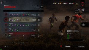 BVHR please fix matchmaking!!: hairybear101  Nads  893 774 A  600  17 000  51  Bear  4.  MATCH  DID YOU HAVE FUN?  SCOREBOARD  000  LEVEL 50 (  CLAUDETTE MOREL  RANK  SCORE  STATUS  [F1] CHARACTER INFO  :)  19 602 1  BEAR  19 565 3  3  SHMEEEEEZ  17 953 A  NADS  17 047 A  Shiva on Ice: great matchmaking.  Shiva on Ice: first time wraith vs red  ranks  SHIVA ON ICE  Shiva on Ice: nice  Nads: yeah.  Nads: idk game  Nads: is broken  15  18 851 7  Nads: af  UPGRADE  CONTINUE  62  3. BVHR please fix matchmaking!!