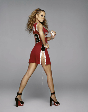 Love, Mariah Carey, and Sports: halalboyfriend:  Mariah Carey photographed for GQ Magazine by Richard McLaren 2003   Me: i hate sports masculine uselessness Mariah carey: *wears a fashionable sports jersey*Me: i love sports fem fatale. Pow !