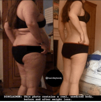 Dieting, Memes, and Nasty: @half my body  DISCLAIMER  This photo contains a real  unedited body  before and after weight loss. Regrettably, I deleted my last transformation picture <back one>. I know I probably shouldn't have😬but I had some nasty comments and it was too much. I really appreciated your support with that post but it can get a tad overwhelming with that kind of negativity when you're trying to be positive💪🏼✨⭐️✨💪🏼✨ I haven't posted a picture of myself since that a few weeks back. BUT.....I have decided to keep posting as it's worth it to just block those people if I just hope that these pictures can help a few more people who want to see REAL UNFILTERED WEIGHTLOSS BEFORE AND AFTERS!!!!!!! ❤️❤️❤️❤️you guys😘 . . . weightlossjourney weightloss fitnessmotivation weightlossmotivation fitlife losingweight fatloss slimmingworld weightlosstransformation weightwatchers dieting diet fitnessjourney fitspiration fattofit iifym bbg keto macros beforeandafterweightloss bodypositive beforeandafter transformation fitgirls instafitness progress healthyliving determination