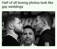 They really do: Half of all boxing photos look like  gay weddings They really do