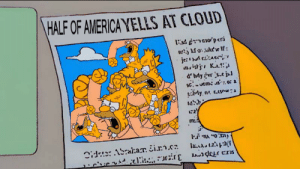 America, Tumblr, and Blog: HALF OF AMERICA YELLS AT CLOUD waddledab: solar eclipse experience 2017