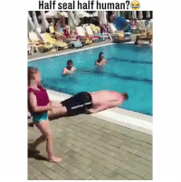 Memes, Seal, and 🤖: Half seal half human?  ULI Every holiday he pretends to be a seal 😂😂