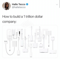 Memes, How To, and 🤖: Halle Tecco  @halletecco  How to build a 1 trillion dollar  company: 😂Facts