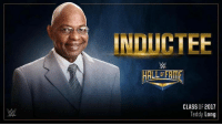 Memes, 🤖, and  Teddy Long: HALLIERME  CLASS OF 2017  Teddy Long #BlackHistoryMonth of Wrestling: Teddy Long is going into the 2017 #WWEHOF