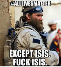 Anaconda, Isis, and Memes: HALLLIVESMATTER  EXCEPT ISIS  FUCKISIS I agree 100% https://t.co/cfj1jp2bgG