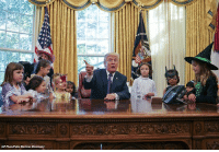 Children, Halloween, and Memes: Halloween came early at the WhiteHouse as President DonaldTrump welcomed the children of the press corps into the Oval Office for some trick-or-treating.