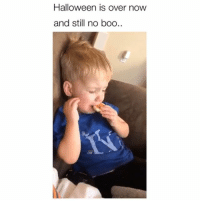 Boo, Halloween, and Memes: Halloween is over now  and still no boo So sad 😂 Credit: @kate.luty