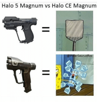 Spread your cheeks homie: Halo 5 Magnum vs Halo CE Magnum  @PolarSaurusRex Spread your cheeks homie