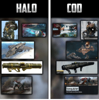 Call of Duty ripping off Halo?  Credit: sent to us on twitter by @xesusph: HALO  COD  Excavation  Vanquisher  Get 15 ins in an Arena Season. Call of Duty ripping off Halo?  Credit: sent to us on twitter by @xesusph