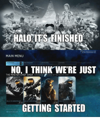 The Reclaimer really makes some of the best content. -Chris: HALO ITS FINISHED  The Reclaimer  MAIN MENU  CAMPAIGNS  NO, I THINK WERE JUST  THE MASTER CHIEF SAGA  EXPERIENCE T  LEGEND OF THE MASTER CHIEF  HALO CE ANNIVERSARY  HALO 2 ANNIVERSARY  HALO  0/10 E  0/10  0/15  0/10  GETTING STARTED The Reclaimer really makes some of the best content. -Chris