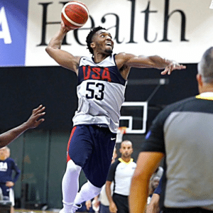 USA Basketball vs Team Select scrimmage highlights from yesterday @USABasketball https://t.co/c3yJHty2Fh: Halth  ISA  53 USA Basketball vs Team Select scrimmage highlights from yesterday @USABasketball https://t.co/c3yJHty2Fh