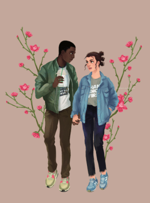 dis4daria:  Finn and Rey - modern au. My most important headcanon for them is that they are happy and together :): HAM  SHC  FIRS  NT TO  IEVE  dis 4daria.tumblr.com dis4daria:  Finn and Rey - modern au. My most important headcanon for them is that they are happy and together :)