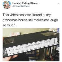 Memes, Pope Francis, and House: Hamish Ridley-Steele  @hamishsteele  This video cassette l found at my  grandmas house still makes me laugh  so much  or Which Hogwarts house would the pope be in
