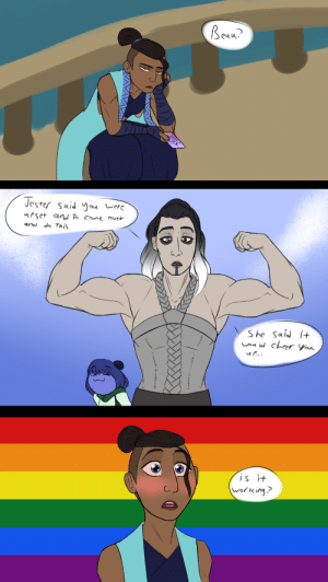 hammertheshark:  I WAS BORED! and ive wanted an excuse to draw yasha flexing for a while. figured this may have happened at one point of the boat to darktow NSFW version of the second panel under the cut Keep reading: hammertheshark:  I WAS BORED! and ive wanted an excuse to draw yasha flexing for a while. figured this may have happened at one point of the boat to darktow NSFW version of the second panel under the cut Keep reading