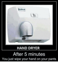 Hand Dryer: HAND DRYER  After 5 minutes  You just wipe your hand on your pants