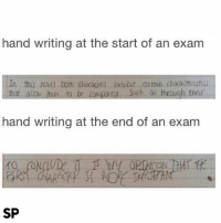 Facts 😅: hand writing at the start of an exam  thu  that allo jnen to be comparca. Such as trough thei  hand writing at the end of an exam  10  SP Facts 😅