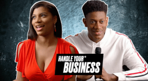 Business, Jcpenney, and Hunter: HANDLE YOUR  BUSINESS Taylor Rooks put him through the ringer but Deandre Hunter handled his business at this mock press conference 🤣  From B/R x JCPenney